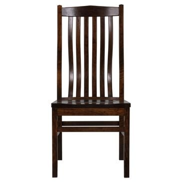 Palettes by Winesburg Prestige Side Chair Brown Finish, , large