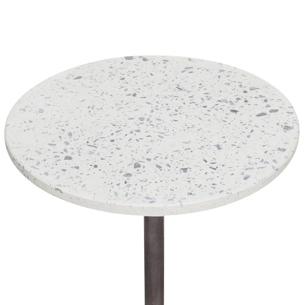 Maple and Jade Accent Table in Aluminum and Marble, , large