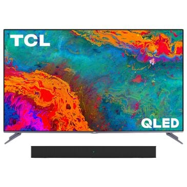 "TCL 50"" Class 5 Series QLED 4K UHD Smart Roku TV with Alto 3 2.0 Channel Sound Bar in Black, , large"