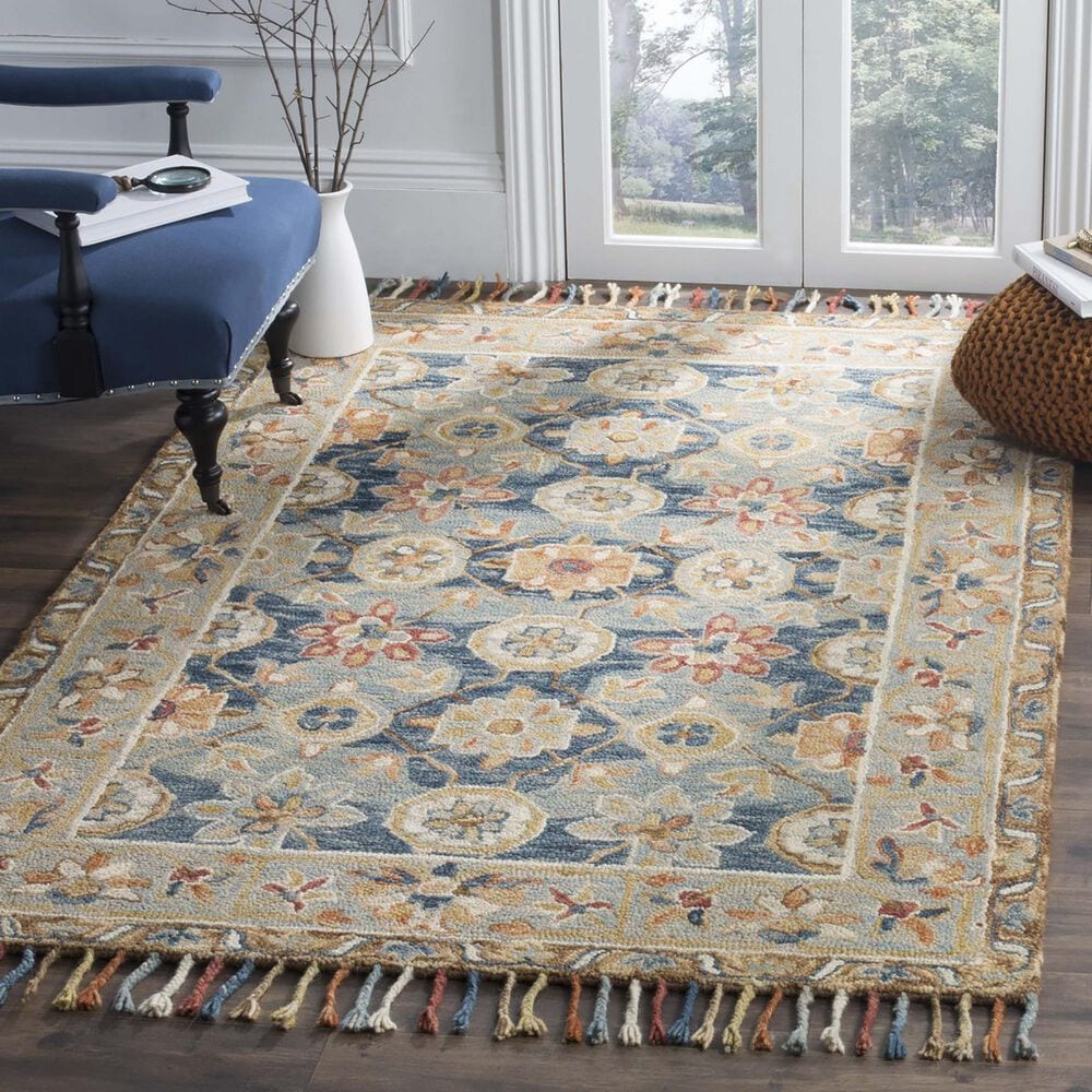 Safavieh Aspen 10' x 14' Gray and Navy Area Rug, , large