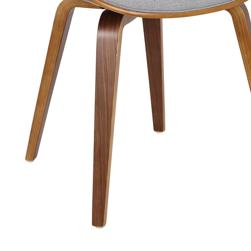 Lumisource Curvo Dining Chair in Light Grey/Walnut, , large