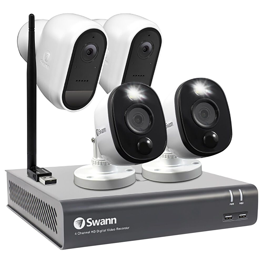 Swann 4-Camera 1080p Full HD DVR Flex Security System, , large