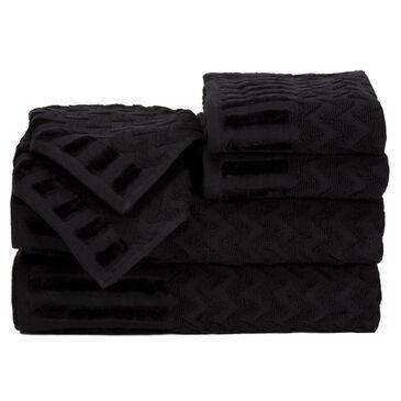 Timberlake Lavish Home Chevron 100% Cotton 6 Piece Towel Set, , large