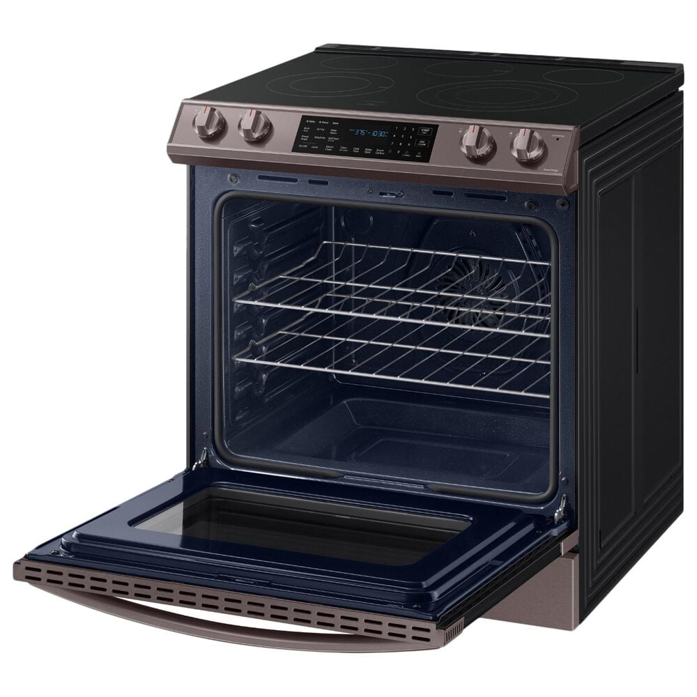 Samsung 6.3 Cu. Ft. Front Control Slide-in Electric Range with Air Fry and Wi-Fi in Tuscan Stainless Steel, , large