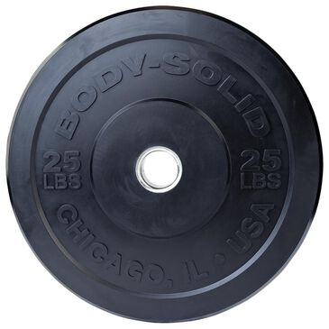 Body Solid 25 lb Chicago Extreme Bumper Plate in Smooth Black, , large
