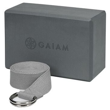 Gaiam Yoga Block and Strap Combo, , large