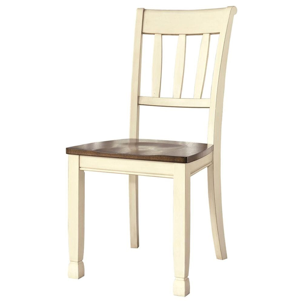 Signature Design by Ashley Whitesburg 5-Piece Dining Set in Brown and Cottage White, , large