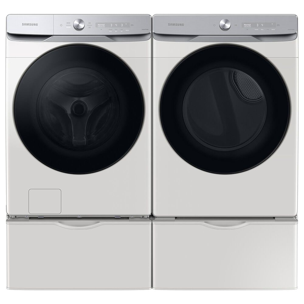 Samsung 5 Cu. Ft. Front Load Washer and 7.5 Cu. Ft. Electric Dryer Laundry Pair in Ivory, , large