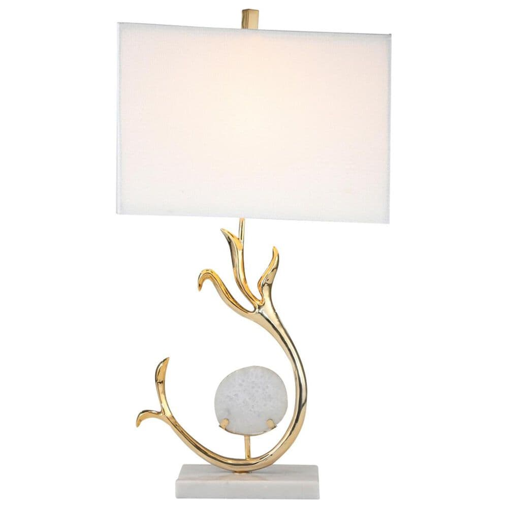 """Sagebrook Home 30"""" Table Lamp in Gold with White Base, , large"""