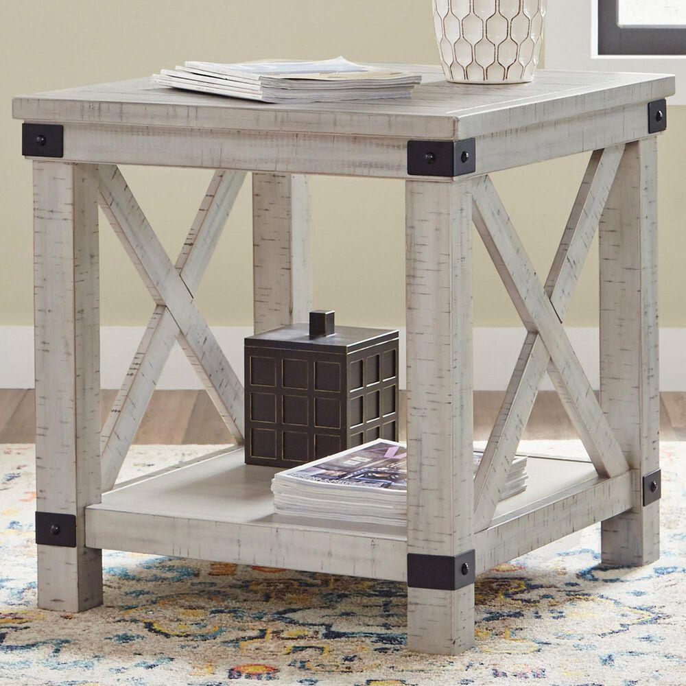 Signature Design by Ashley Carynhurst Rectangular End Table in Whitewash, , large