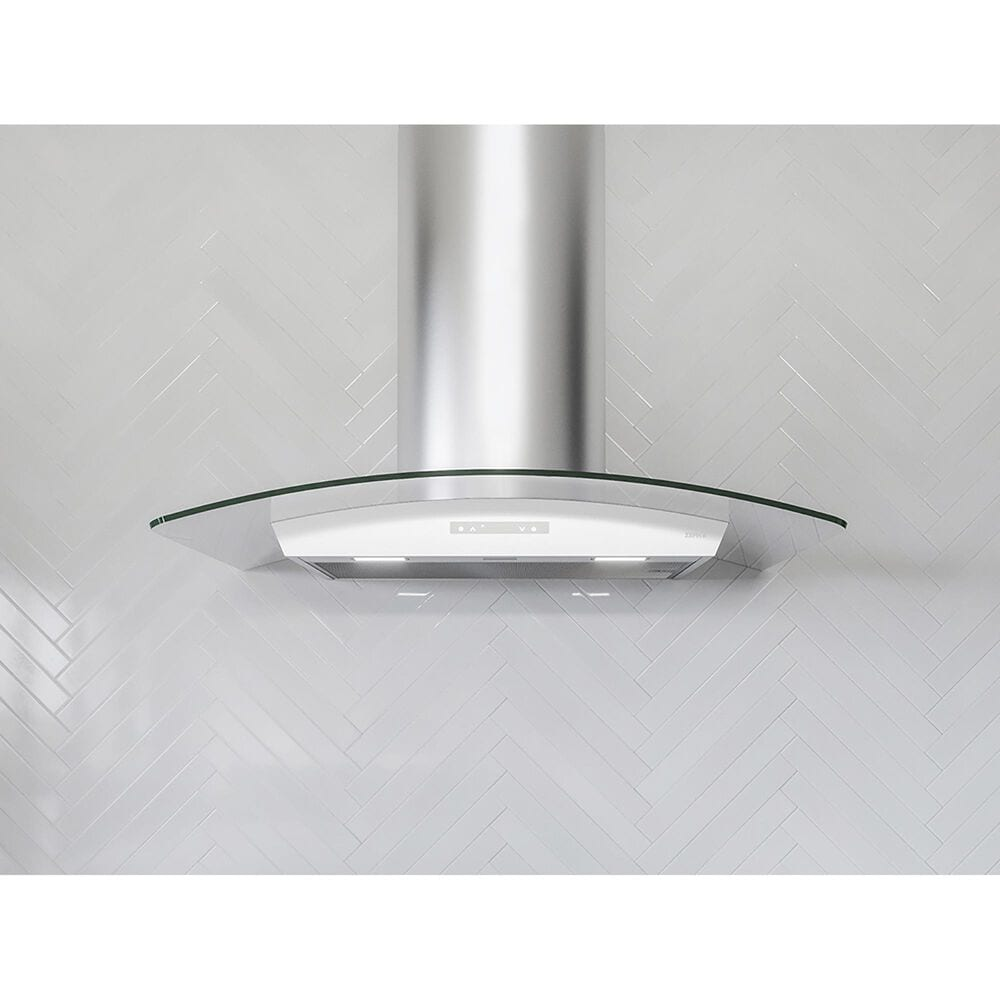"""Zephyr Milano 36"""" Wall Range Hood in Stainless Steel and Glass, , large"""