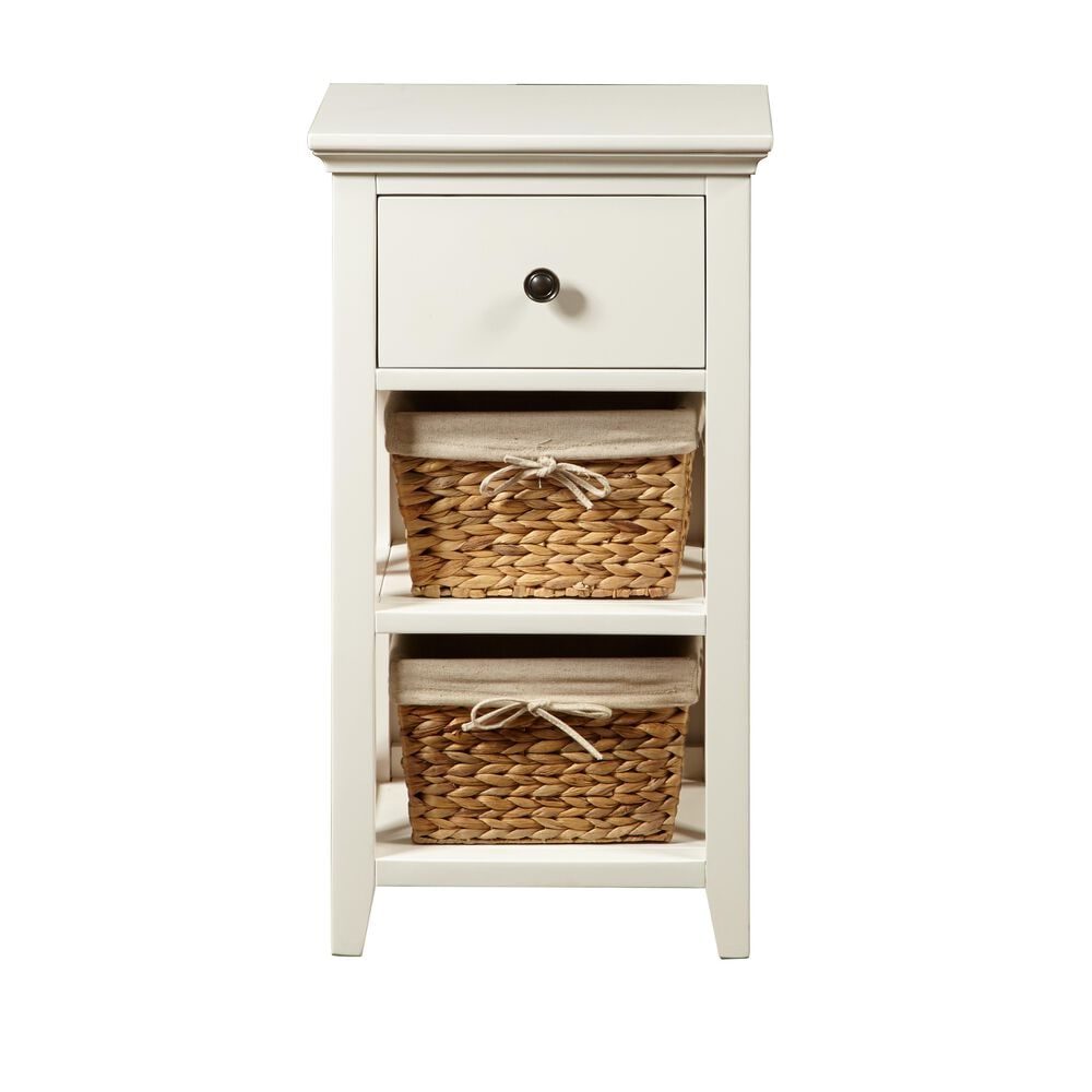 Accentric Approach Accentric Accents Benton Bathroom Storage Accent with Baskets in White, , large