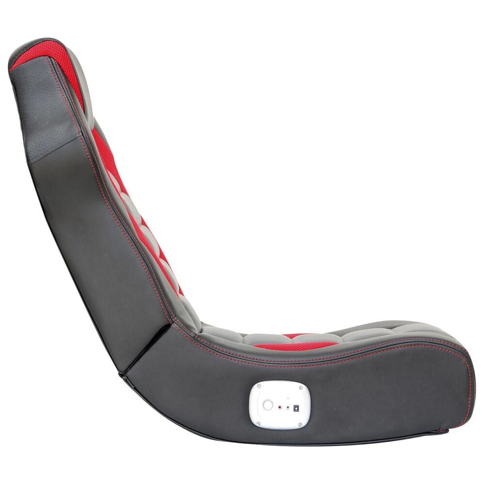 X-Rocker Flash 2.0 Wired Gaming Chair in Black/Red, , large