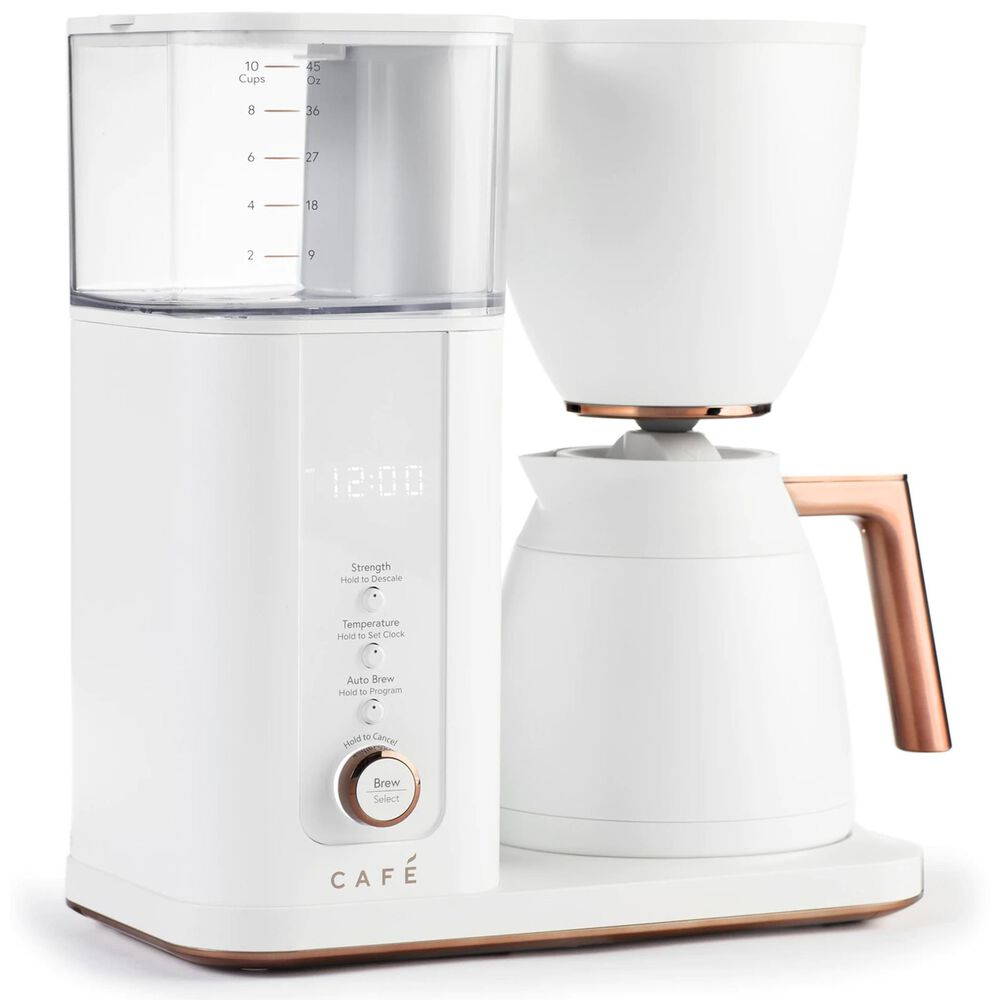 Cafe Specialty Drip Coffee Maker with Wi-Fi in Matte White, , large
