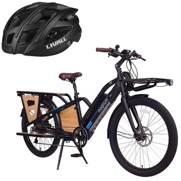 Magnum Payload E-bike 13AH in Matte Black with (Free) Smart Bluetooth Black Bicycle Helmet, , large