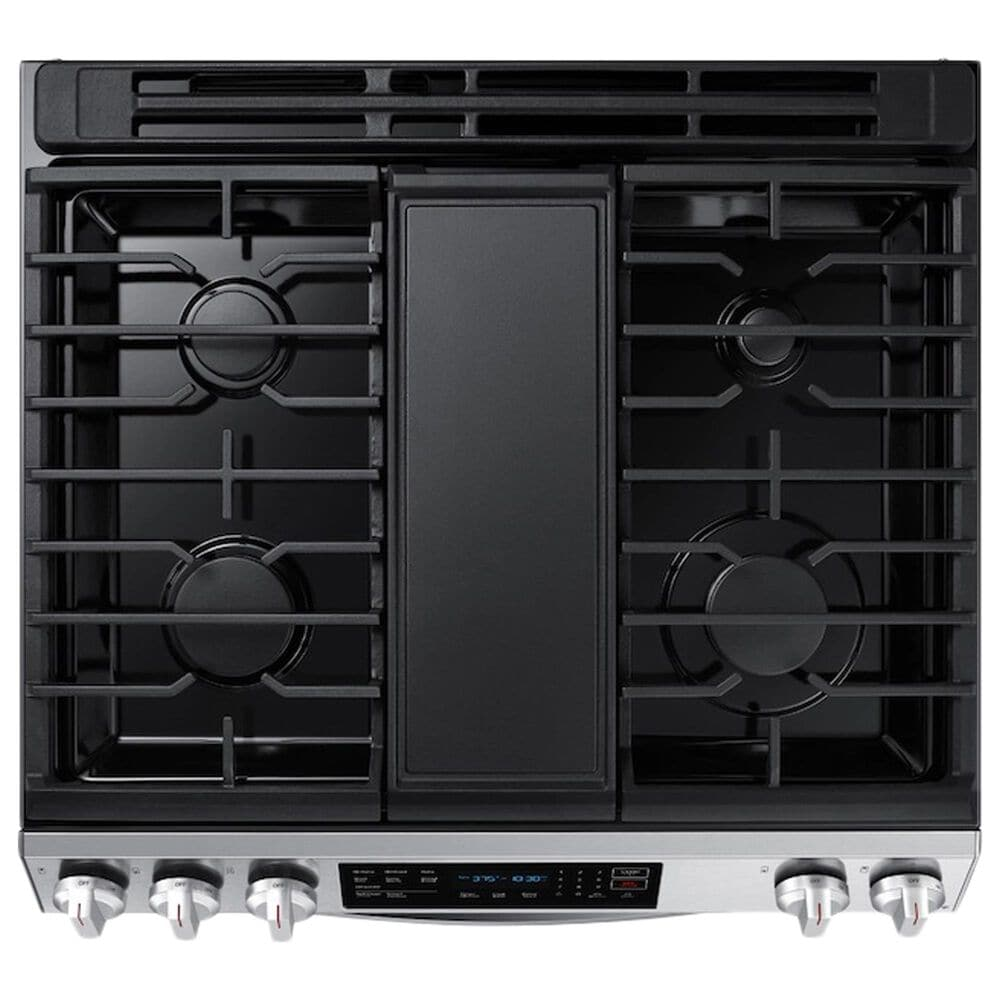 Samsung 6.0 Cu. Ft. Front Control Slide-in Gas Range with Convection and Wi-Fi in Stainless Steel, , large