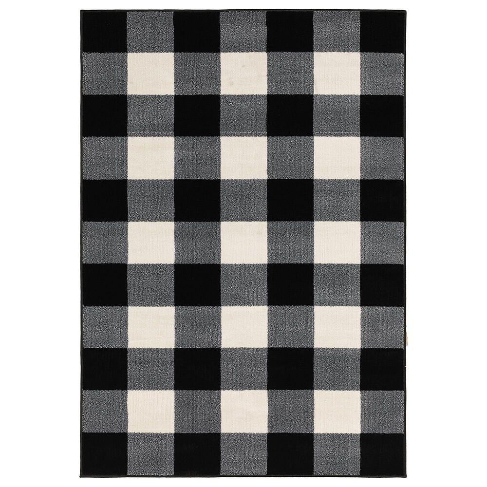 "Oriental Weavers Georgia Geometric 678D0 9""10"" x 12""10"" Black Area Rug, , large"