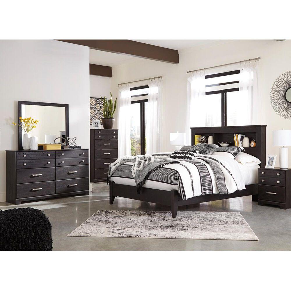 Signature Design by Ashley Reylow 4 Piece Queen Bookcase Bedroom Set in Dark Brown, , large