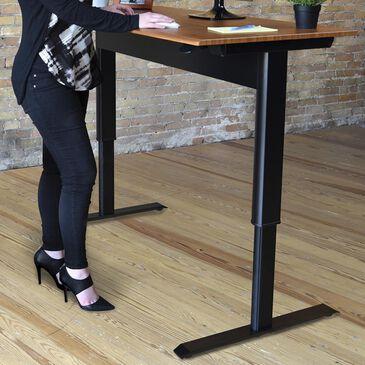 "Luxor 56"" Pneumatic Adjustable Height Standing Desk in Black/Teak, , large"