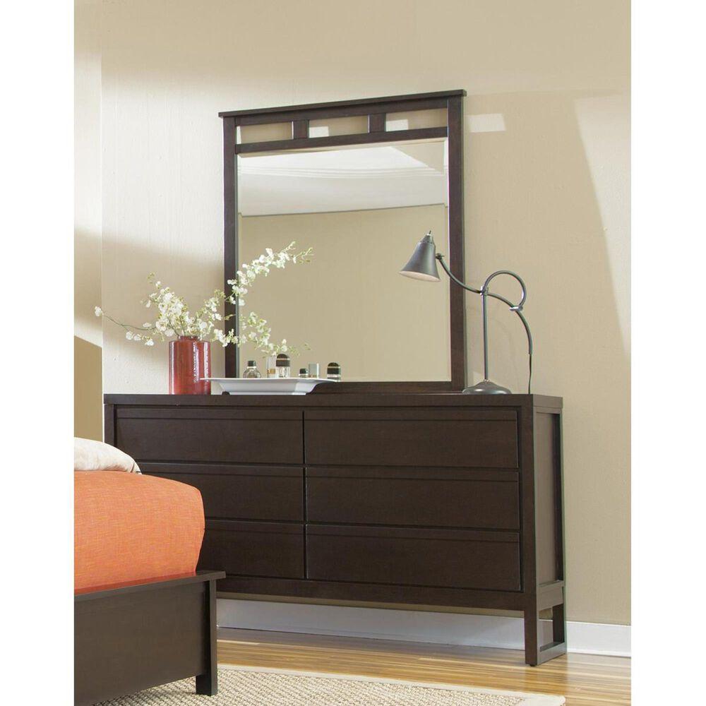 Tiddal Home Athena 6-Drawer Dresser in Dark Chocolate, , large