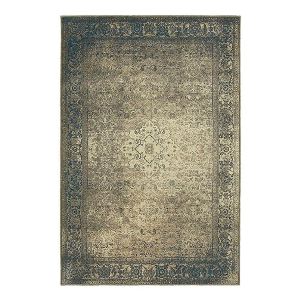 "Oriental Weavers Pasha 1330E 7'10"" x 10'10"" Blue Area Rug, , large"