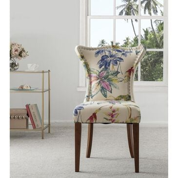 Jennifer Taylor Home Paradise Upholstered Accent Chair Off-White/Floral, , large