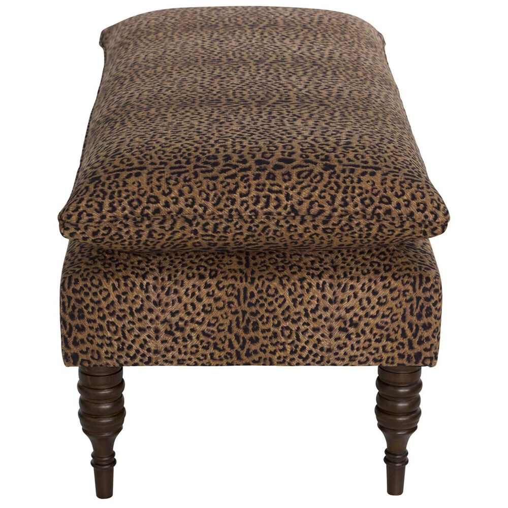Skyline Furniture Pillow Top Bench in Cheetah Earth, , large