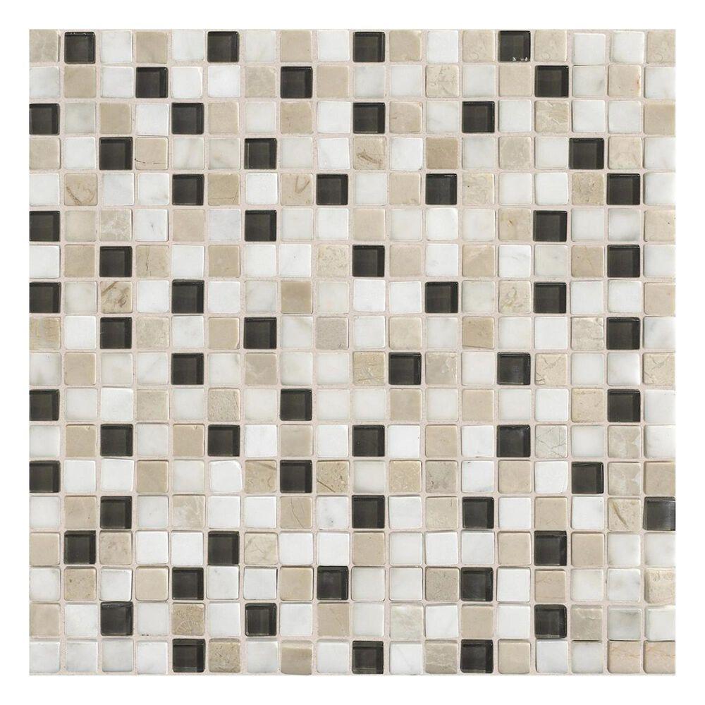 "Dal-Tile Stone Radiance 5/8"" x 5/8"" Slate Mosaic Tile in Kinetic Khaki, , large"