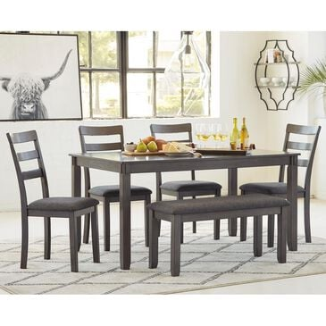 Signature Design by Ashley Bridson 6-Piece Rectangular Dining Set in Gray, , large