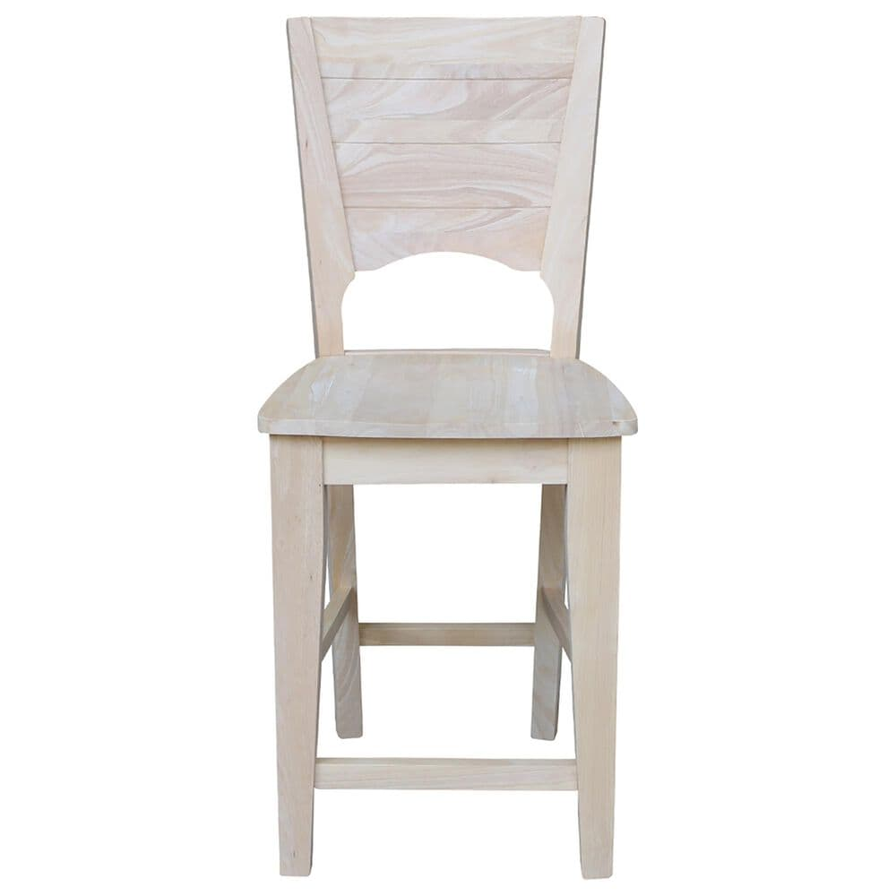 """International Concepts Canyon 24"""" Counter Stool in Unfinished, , large"""
