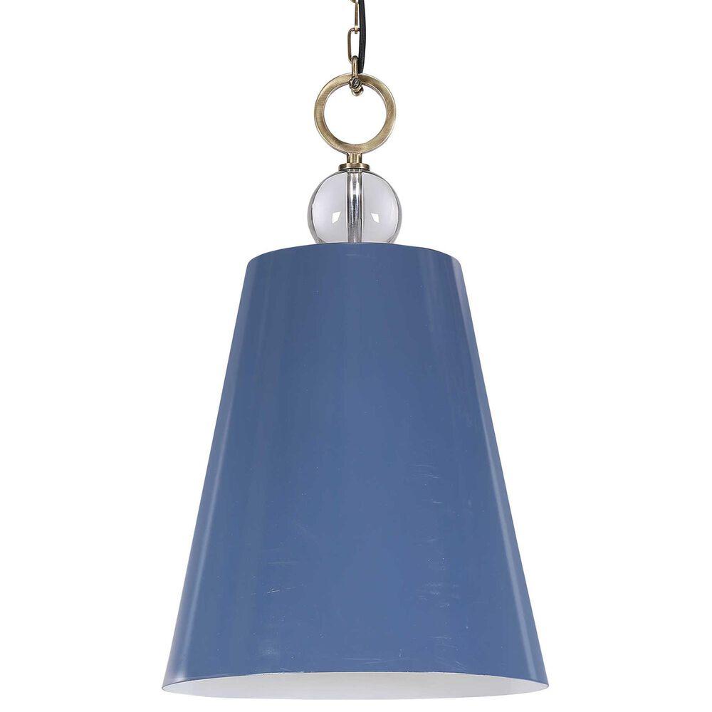 Uttermost Delray 1-Light Pendant in Blue, , large