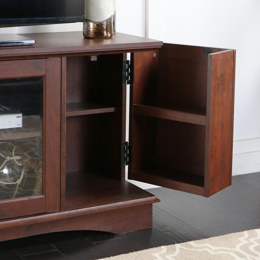 "Walker Edison 52"" Media Storage Wood TV Stand in Brown, , large"