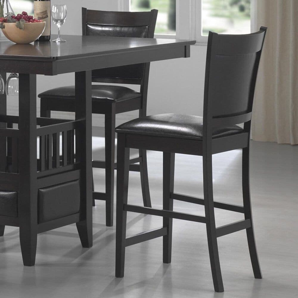 Pacific Landing Jaden Counter Height Stool in Cappuccino - Set of 2, , large