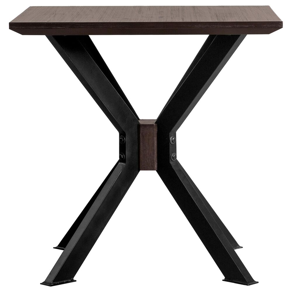 Blue River Pirate End Table in Coffee Bean Brush/Natural Black, , large