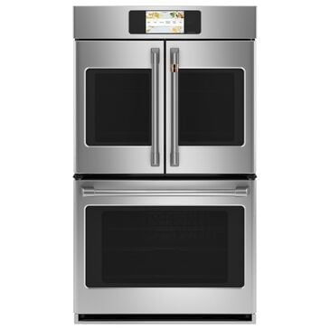 "GE Cafe 30"" French-Door Double Wall Oven in Stainless Steel, , large"