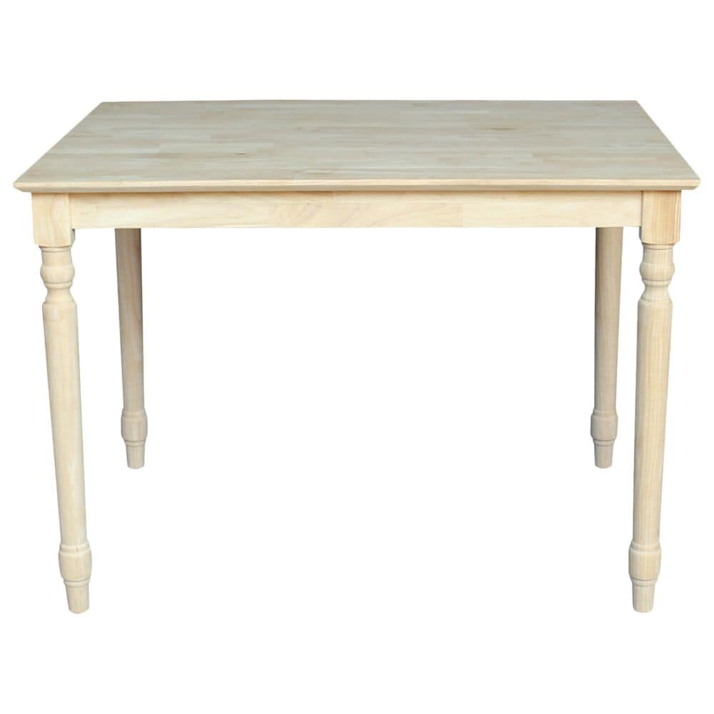 International Concepts Modern Farmhouse Casual Dining Table in Unfinished, , large