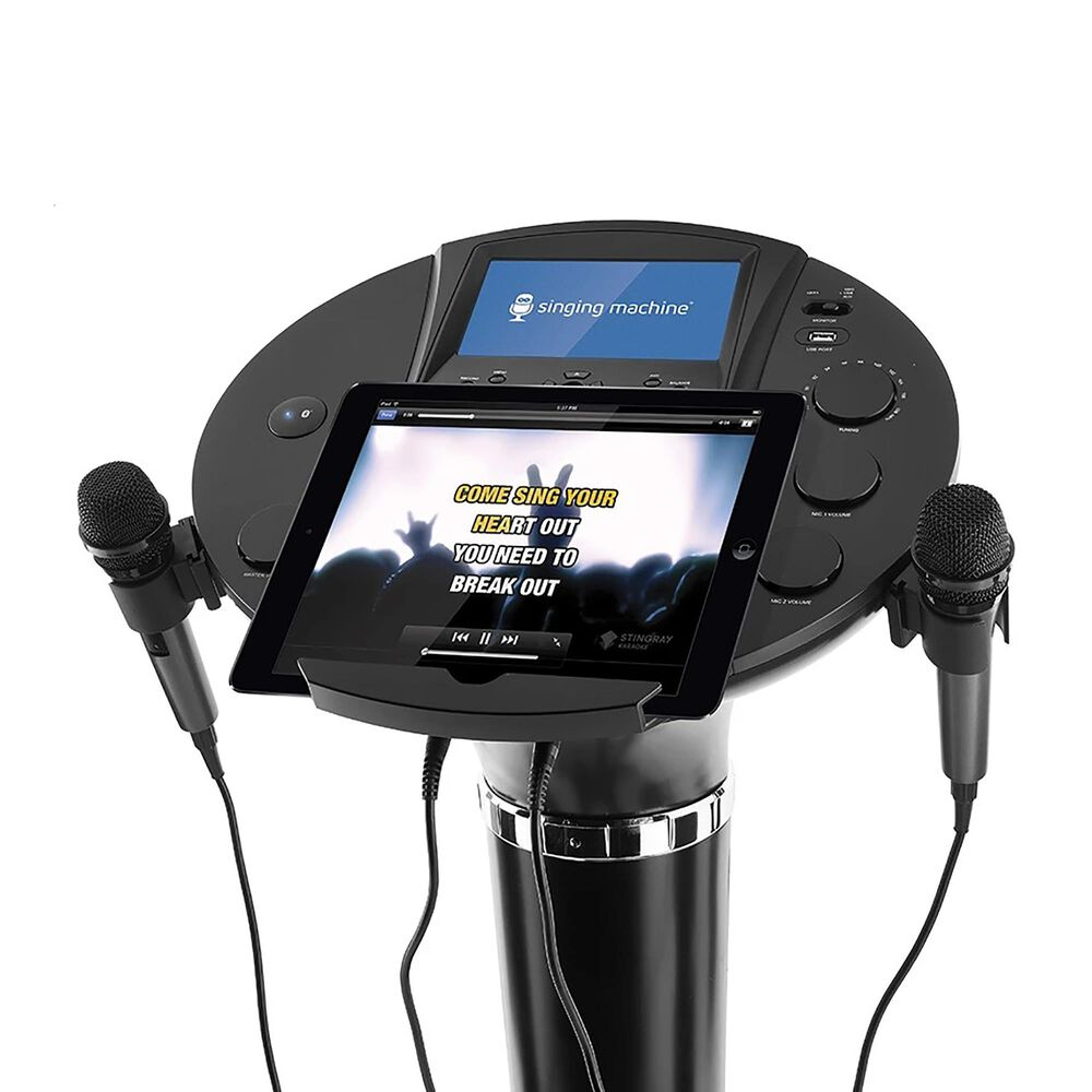 Singing Machine Bluetooth Karaoke Machine Pedestal, , large