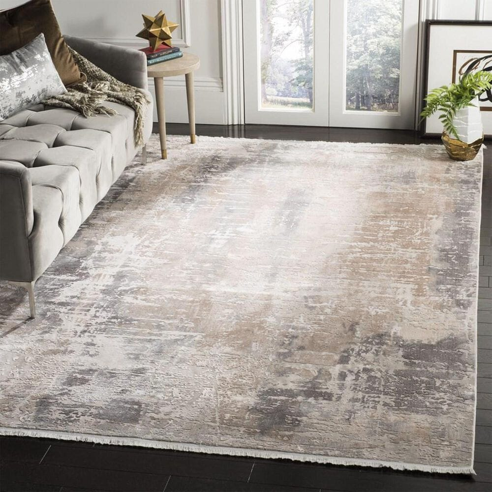 Safavieh Eclipse 4' x 6' Beige and Brown Area Rug, , large