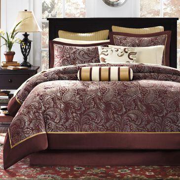 Hampton Park Aubrey 12-Piece King Comforter Set in Red, , large