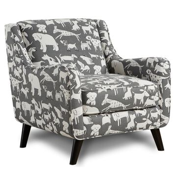 Xenia Accent Chair in Doggie Graphite, , large