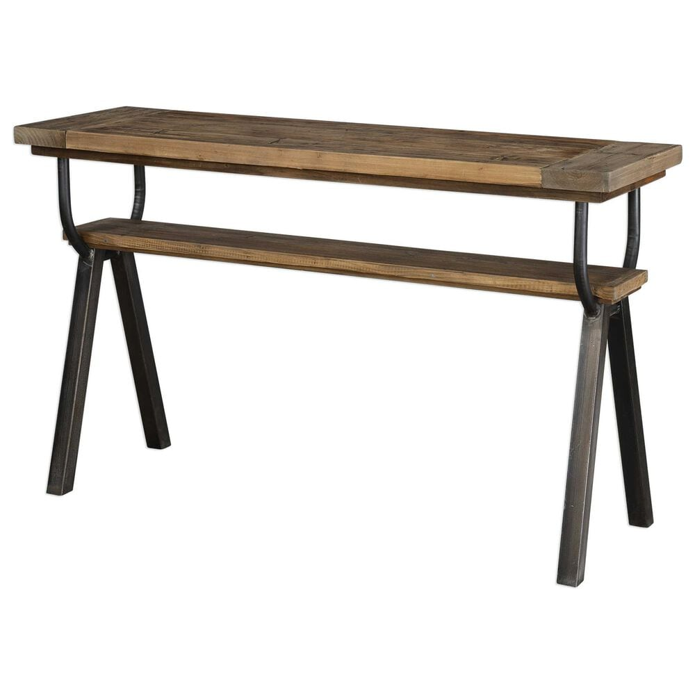 Uttermost Domini Console Table in Brown, , large