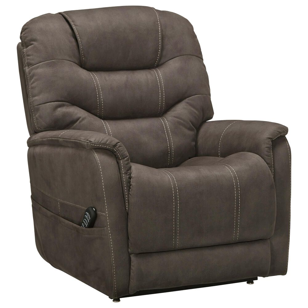 Signature Design by Ashley Ballister Power Lift Recliner in Espresso, , large