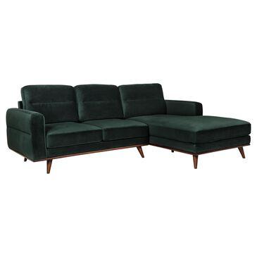 Urban Chic Leonardo 2-Piece Sofa Sectional in Forest Green Velvet, , large