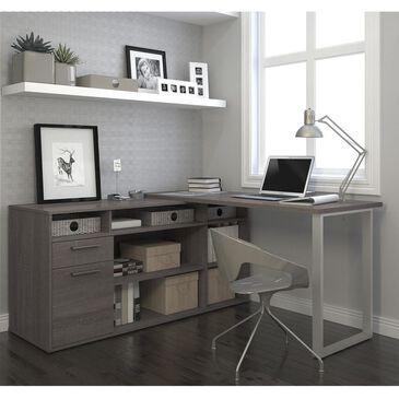 Bestar Solay L-Shaped Desk In Bark Gray, , large