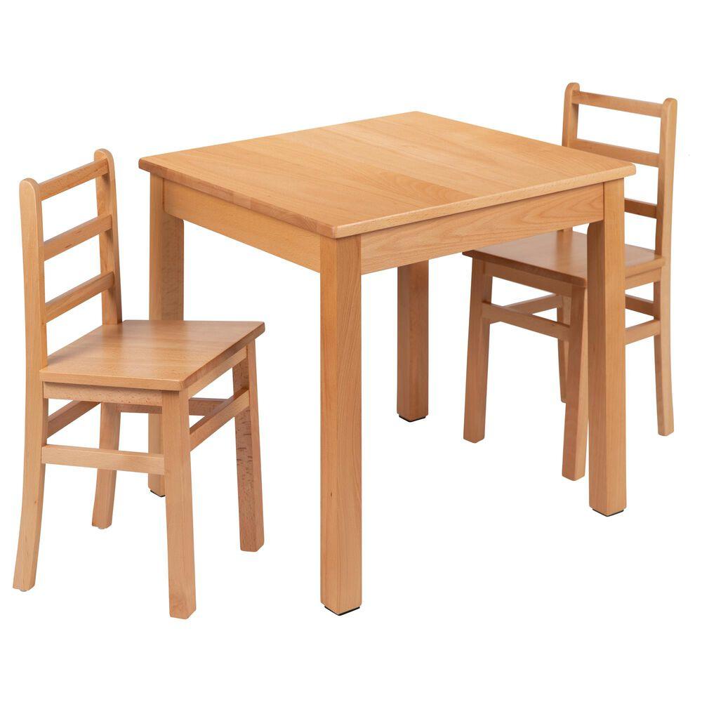 Flash Furniture 3 Piece Kids Table Set in Natural, , large