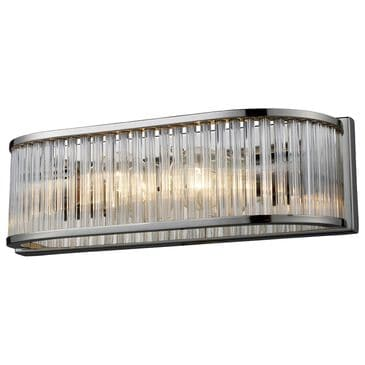 Stein World Braxton 2-Light Vanity In Polished Nickel And Ribbed Glass Rods, , large