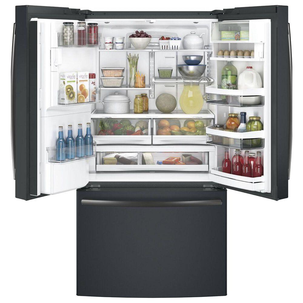 GE Profile 22 Cu. Ft. Counter-Depth French-Door Refrigerator in Black Slate, , large