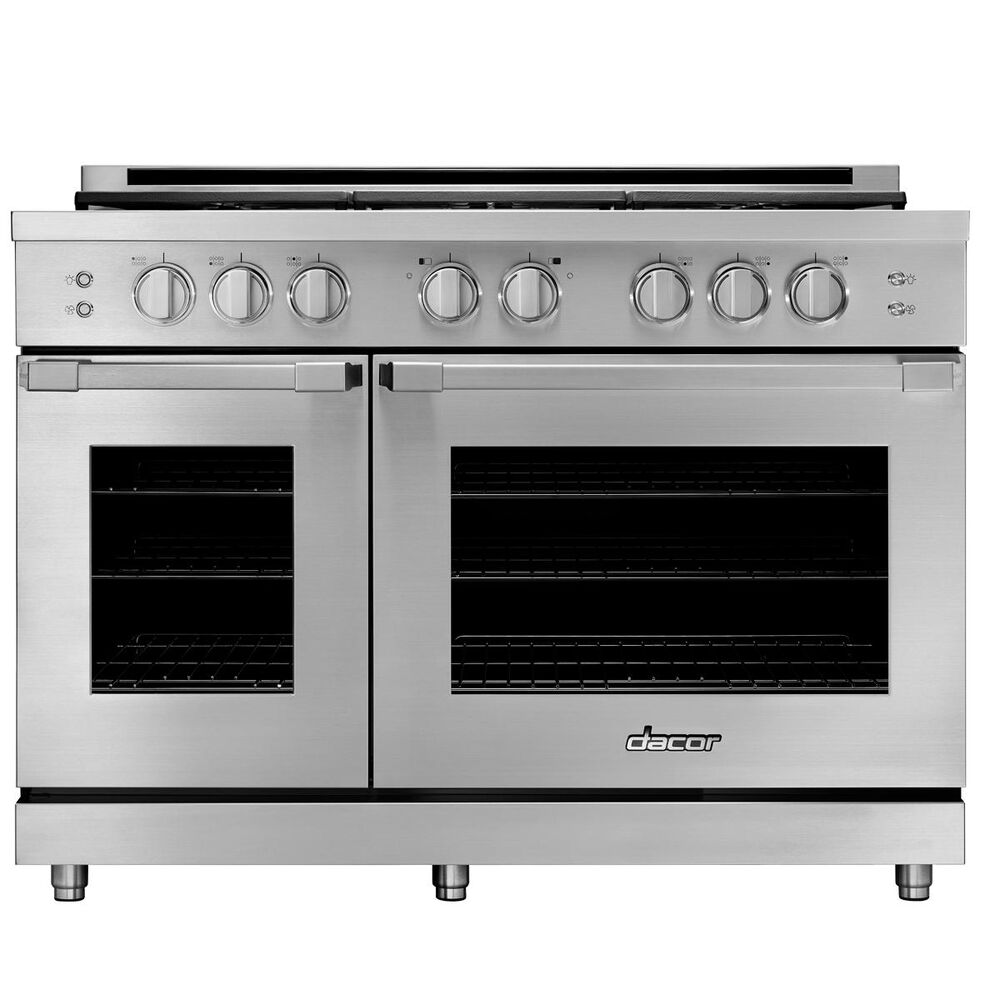 """Dacor 48"""" Heritages Gas Pro Range in Stainless Steel Natural Gas, , large"""