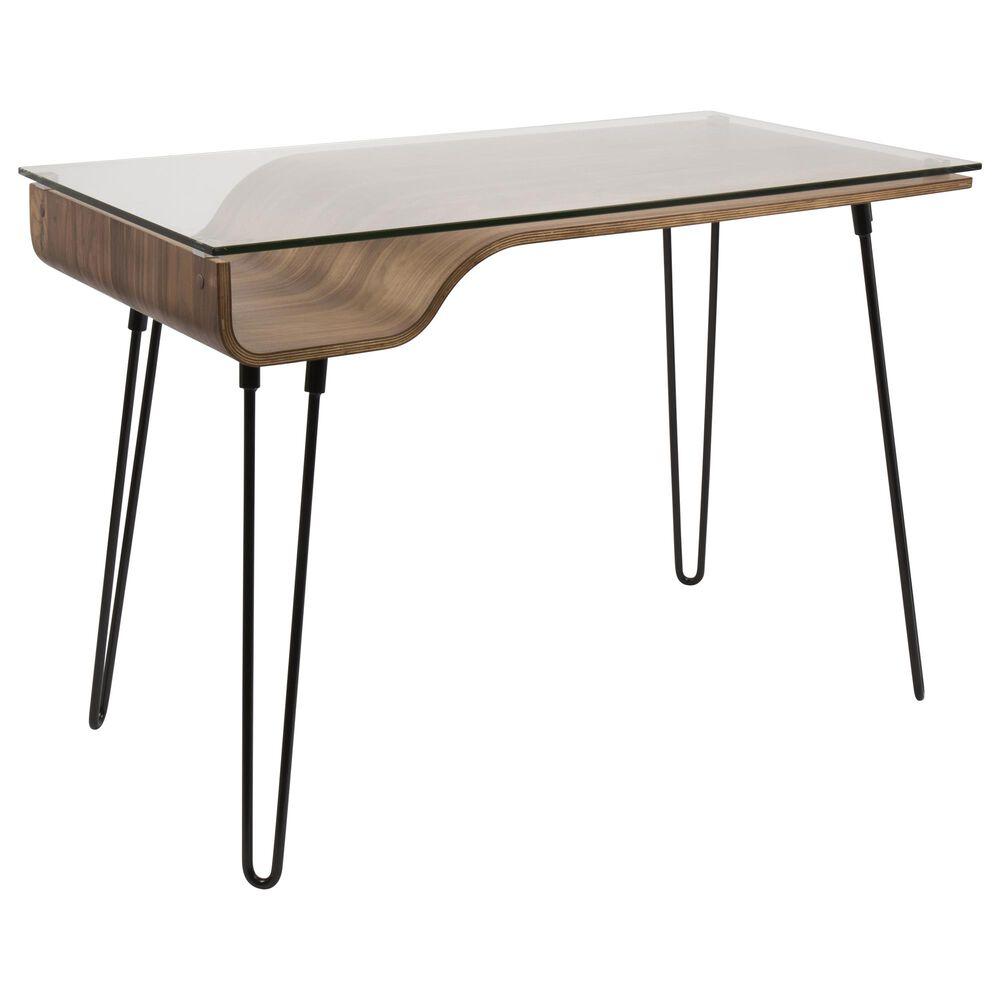 Lumisource Avery Desk in Black/Walnut, , large
