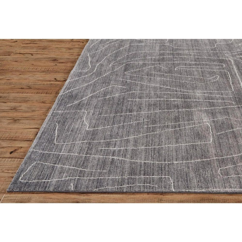 Feizy Rugs Lennox 8698F 2' x 3' Charcoal Scatter Rug, , large